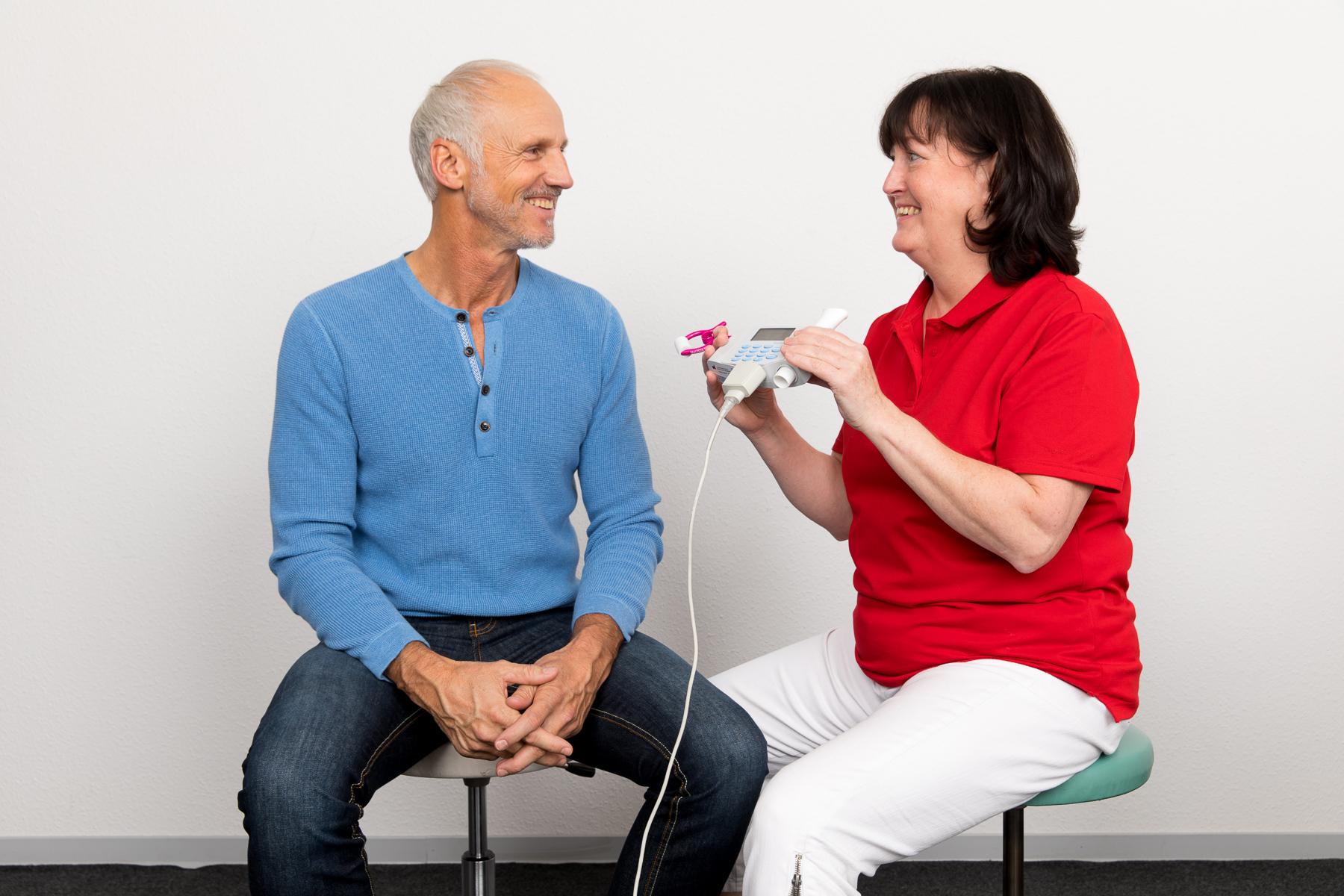 Kerstin erklärt den Lungenfunktionstest